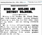 Geelong Advertiser 8th June 1918