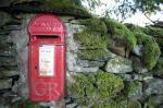 Red British post box